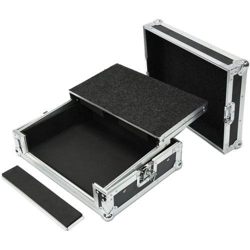 DeeJay LED Transport Case for Mixer and CD Player with Laptop Shelf