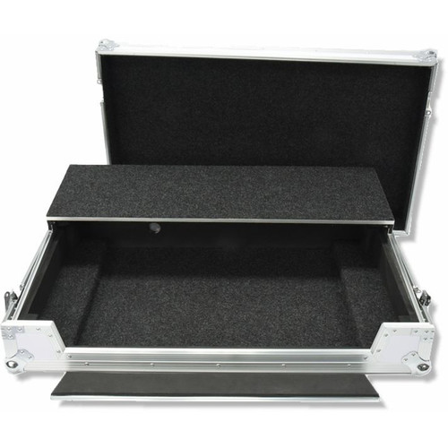 DeeJay LED Flight Case for One Pioneer DDJ SZ SERATO DJ USB Music Controller with Shelf and Wheels (White)