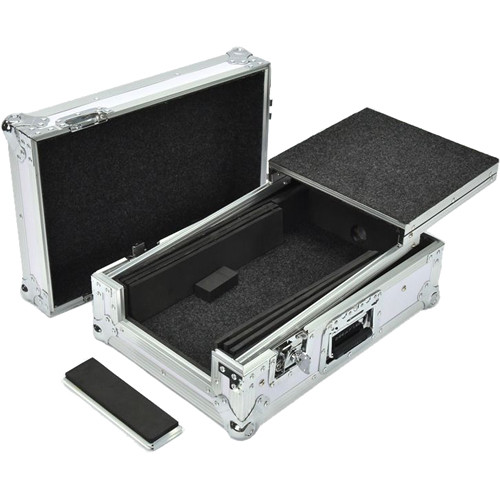 DeeJay LED Fly Drive Case for Pioneer DJM-S9 Mixer with Laptop Shelf (White)