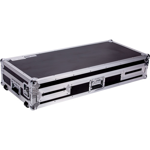 DeeJay LED Coffin for Two Pioneer CDJ-2000 and DJM-2000 Mixers with Low Profile Wheels