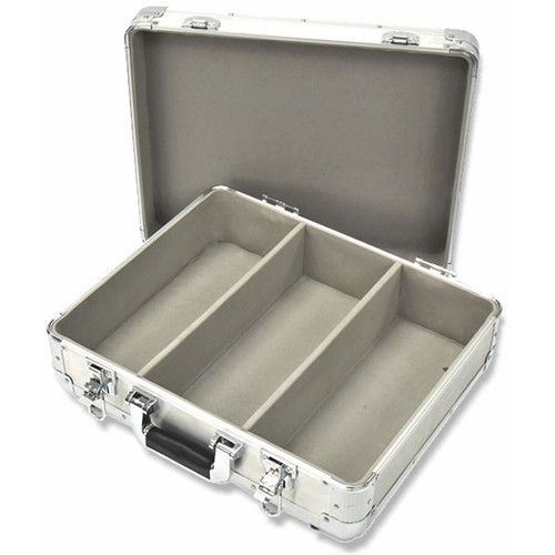 DeeJay LED TBHECD3SILVER 3-Row CD/DVD Case for 100 Jewel Cases/200 Plastic Sleeves (Silver)