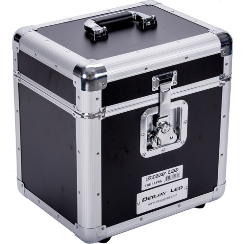 DeeJay LED Fly Drive LP Record Case - For 80 LP Records (Black)