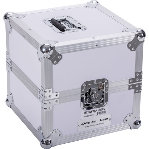 DeeJay LED Fly Drive LP Record Case For 80 LP Records (White)