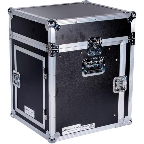 DeeJay LED 10RU Slant Mixer Rack / 10RU Vertical Rack System with Full AC Door