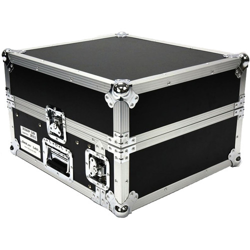 DeeJay LED Fly Drive Amplifier Rack Case (10 RU for Slant Mixer Rack, 2 RU for Vertical Rack)