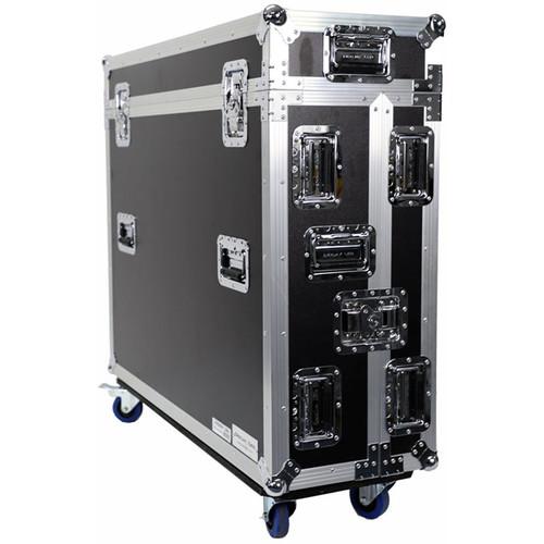DeeJay LED Fly Drive Case for Midas M32 Digital Mixer w/Wheels (Black)