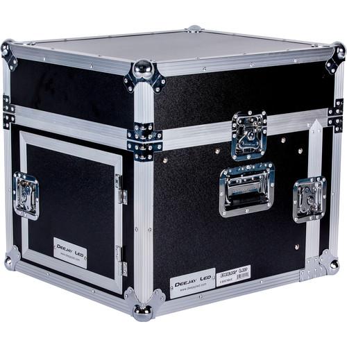 DeeJay LED 10RU Slant Mixer Rack / 10RU Vertical Rack System with Full Accessory Door