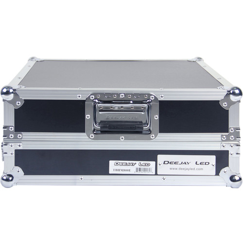 DeeJay LED Fly Drive Case Slanted 8 RU Mixer Rack