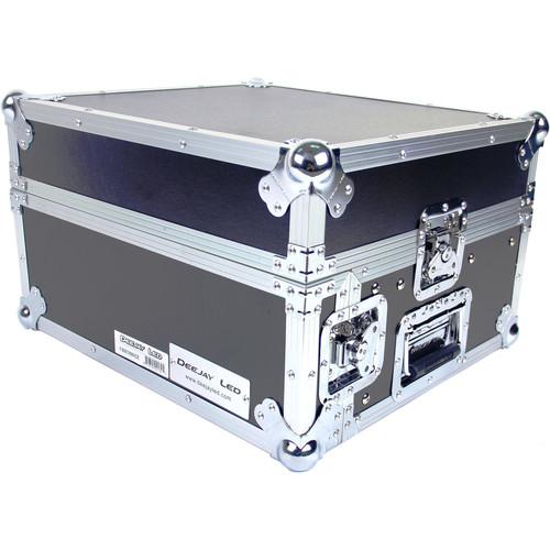 DeeJay LED 8 RU Slant Mixer Rack / 2 RU Vertical Rack System with Full AC Door