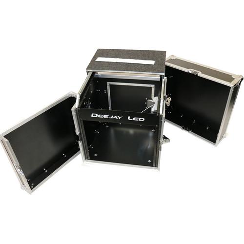 DeeJay LED Fly Drive Rack Case 8U-Space for DJ Amplifiers w/Sliding Laptop Shelf
