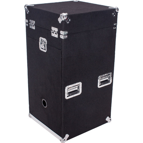 DeeJay LED Flight Road Carpet Case with 10 RU Slant Top and 16RU Bottom with 3 Casters Plate