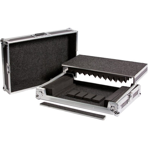 DeeJay LED Universal Fly Drive Case with Laptop Shelf for Midium to Large DJ Controllers