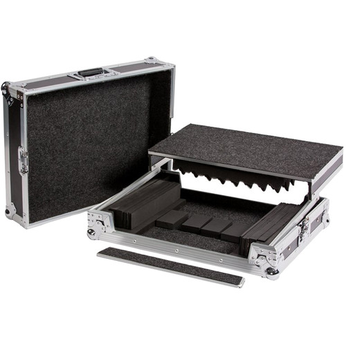 DeeJay LED Universal Fly Drive Case with Laptop Shelf for Small to Medium DJ Controllers