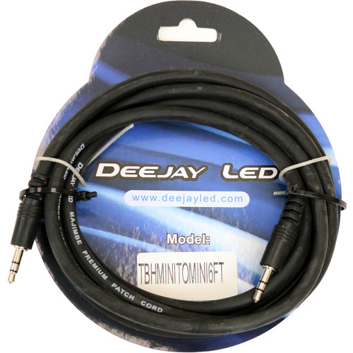 DeeJay LED 3.5mm to 3.5mm Cable - 6'