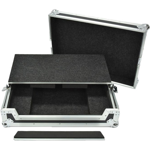 DeeJay LED Fly Drive Case for Pioneer Numark NS6II DJ Controller with Laptop Shelf