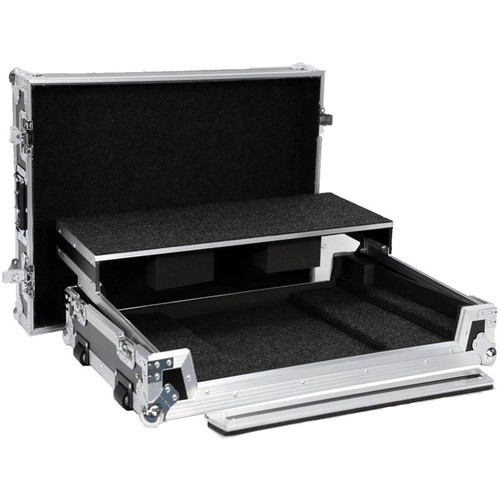 DeeJay LED Fly Drive Case with Wheels and Laptop Shelf for Numark NS7III Digital Controller