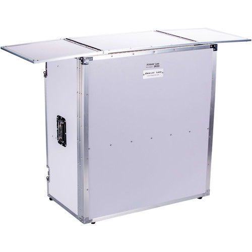 """DeeJay LED DJ Foldout Stand Fly Drive Series with 54"""" Tabletop (White, 36"""" Height)"""