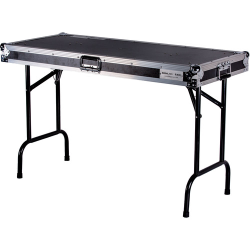 "DeeJay LED Universal Fold-Out DJ Table with Locking Pins (48"" Wide)"