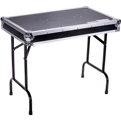 """DeeJay LED Universal Fold-Out DJ Table with Locking Pins (36"""" Wide)"""