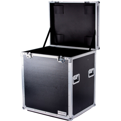 "DeeJay LED Fly Drive Utility Trunk Case with Caster Board (Black, 31.5 x 35 x 26"")"