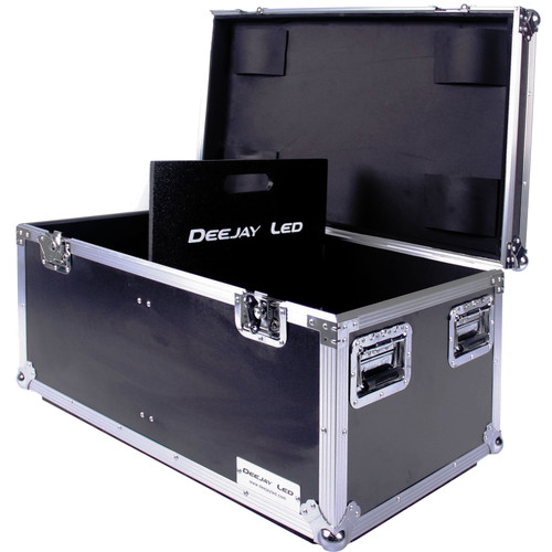 "DeeJay LED Fly Drive Utility Trunk Case with Caster Board (Black, 32 x 20 x 17"")"