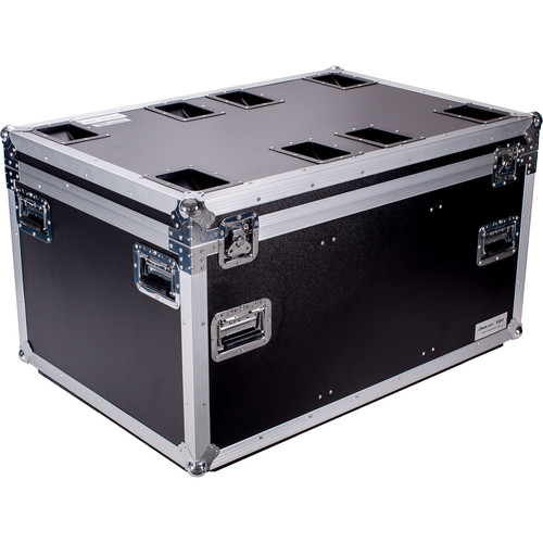 "DeeJay LED Fly Drive Utility Trunk Case with Caster Board (Black, 41.34 x 27.32 x 22.05"")"