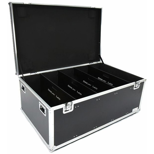DeeJay LED Fly Drive Utility Trunk Case with Compartment Separators and Wheels