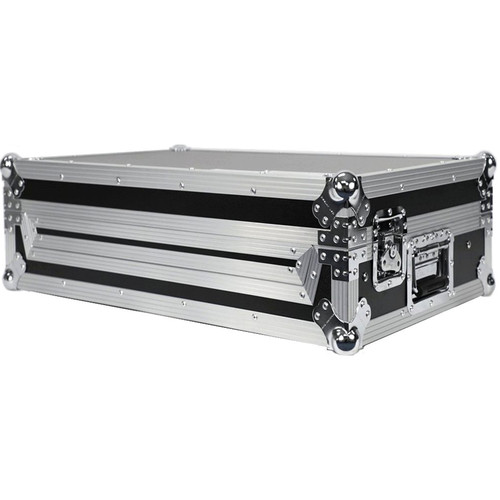 DeeJay LED Fly Drive Case for Pioneer XDJ-RX2 All-in-1 DJ System w/Sliding Laptop Shelf and Wheels(Black)