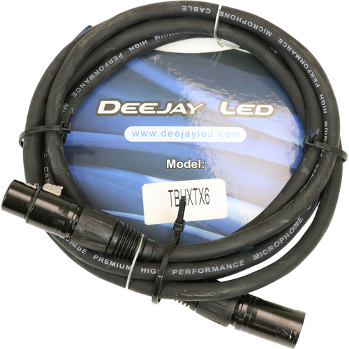 DeeJay LED XLR Male to XLR Female Cable (6')