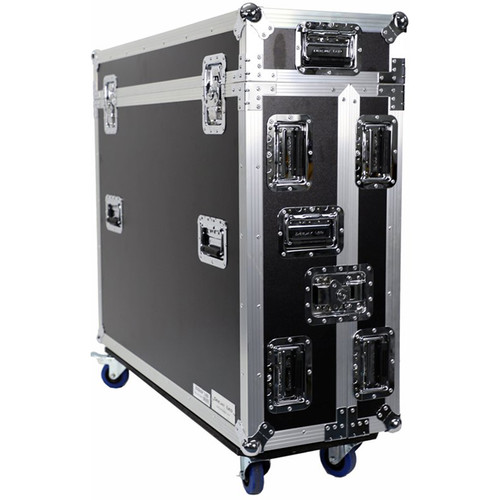 DeeJay LED Fly Drive Case for Yamaha QL5 64-Channel Digital Mixing Console with Wheels (Black)