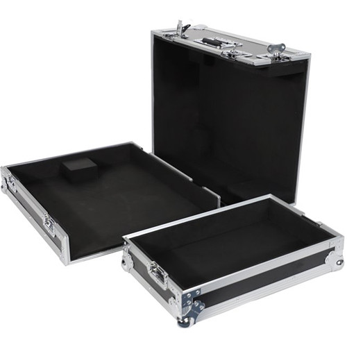 DeeJay LED Fly Drive Case for Yamaha QL1 32CH Digital Mixing Console with Wheels (Black)