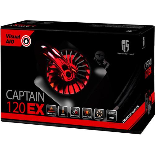 Deepcool Captain 120 EX All-in-One Liquid CPU Cooler (Black)