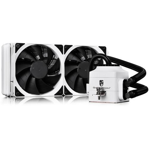 Deepcool Captain 240 EX White Liquid CPU Cooler (240mm Fins Radiator, White)