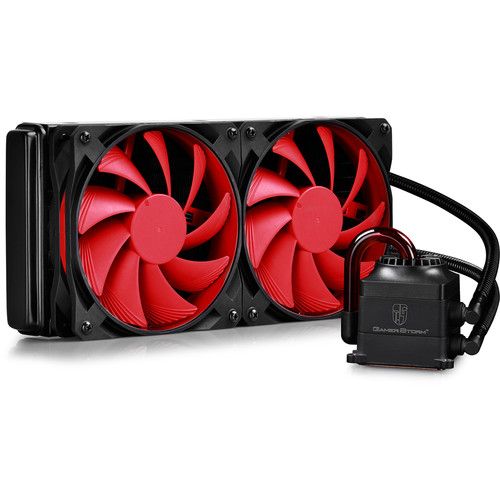 Deepcool Captain 240 Liquid CPU Cooler (Black / Red)