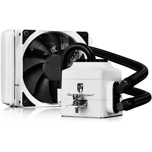 Deepcool Captain 120 EX White Liquid CPU Cooler (120mm Fins Radiator, White)
