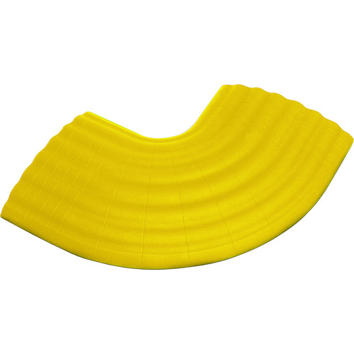 Defender Cable Protection Syst OFFICE C 90° Curve for OFFICE Cable Duct (Yellow)