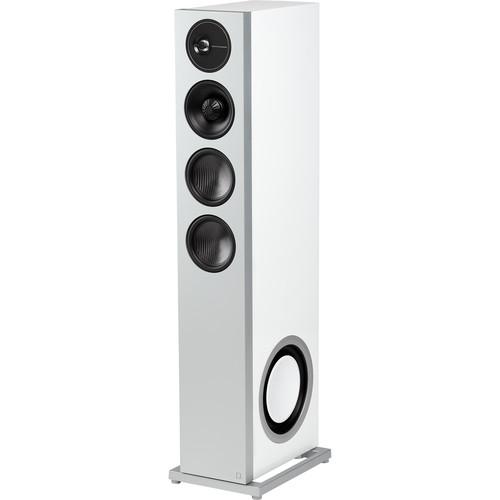 Definitive Technology Demand Series D15 Floorstanding Speaker (Gloss White, Left, Single)