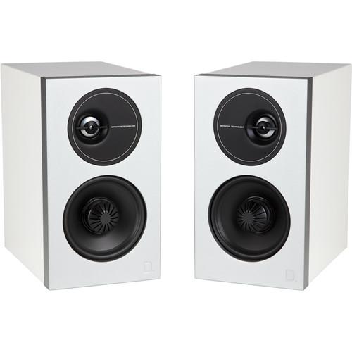 Definitive Technology Demand Series D7 2-Way Bookshelf Speakers (Gloss White, Pair)