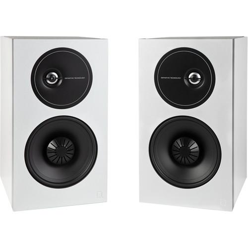 Definitive Technology Demand Series D9 2-Way Bookshelf Speakers (Pair, Gloss White)