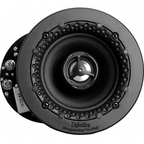 """Definitive Technology Disappearing Series DI 3.5R 3.5"""" Two-Way Round In-Ceiling/In-Wall Speaker (White, Single)"""