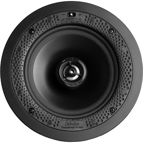 """Definitive Technology Disappearing Series DI 6.5R 6.5"""" Two-Way Round In-Ceiling/In-Wall Speaker (White, Single)"""