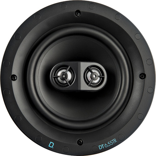 "Definitive Technology DT Series DT6.5STR 6.5"" Dual-Tweeter Two-Way In-Ceiling Speaker (White, Single)"