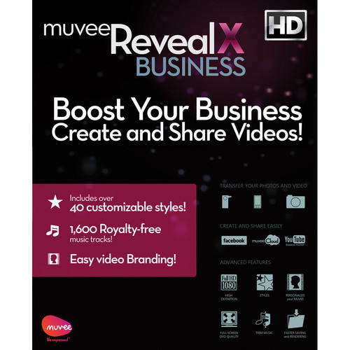 DEGICA muvee Reveal X Business Pack Video Editing Software