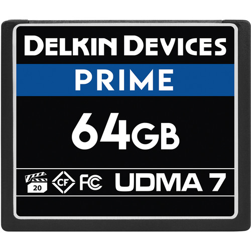 Delkin Devices 64GB Prime UDMA 7 CompactFlash Memory Card