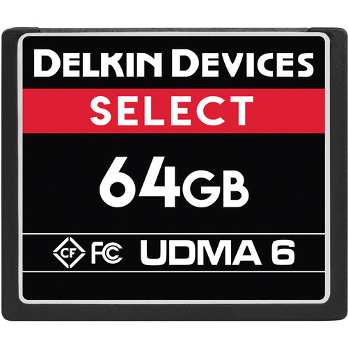 Delkin Devices 64GB Select UDMA 6 CompactFlash Memory Card