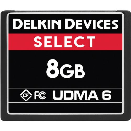 Delkin Devices 8GB SELECT UDMA 6 CompactFlash Memory Card