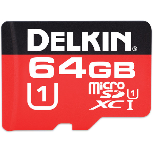Delkin Devices 64GB 375X microSDXC Memory Card (Class 10)