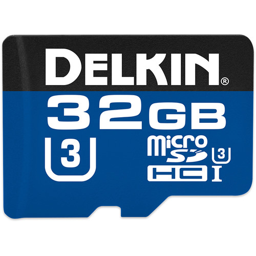 Delkin Devices 32GB 660x microSDHC UHS-I Memory Card with SD Adapter