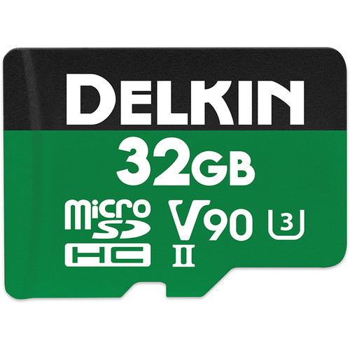 Delkin Devices 32GB POWER UHS-II microSDHC Memory Card