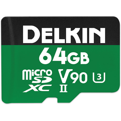 Delkin Devices 64GB Power UHS-II microSDXC Memory Card